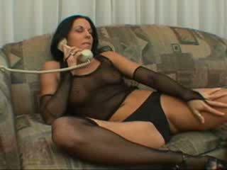 Karstās brunete having sekss par the telefons
