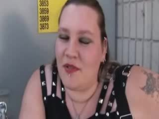 Plump slut e over for one reason and she will get cock