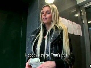 Blondie Eurobabe Katka paid for fucking