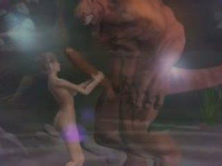 Hentai giới tính 3d fantasy với demons 2