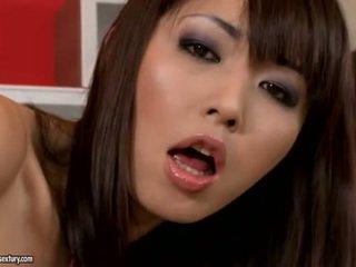brunetă, stropeste, japonez