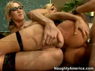 Alana Evans And Her Friend Acquires Screwed On Their Slits On The Table Alternately