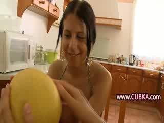 Lezzies love big fruit