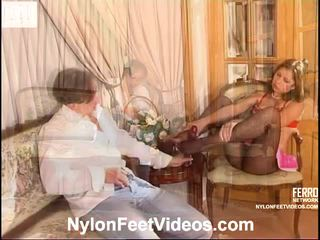 Sophia And Morris Outstanding Pantyhose Feet Video