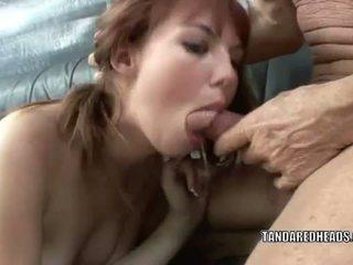 T 和 一 redheads: 红发 青少年 hottie delila 宠儿 gets 性交