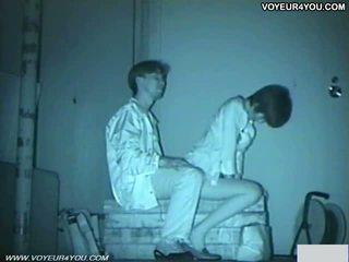 Infrared camera voyeur bench park sekss