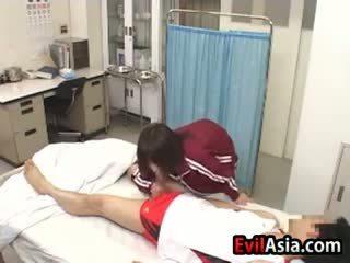 Asian Girl Gives A Blowjob At A Hospital