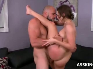 Lily love gets her round göt fucked