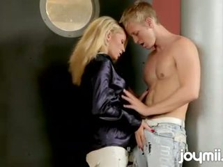 Adela sunshine fucked by the door and cums