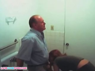 Old Dad Gets Head From His Wife