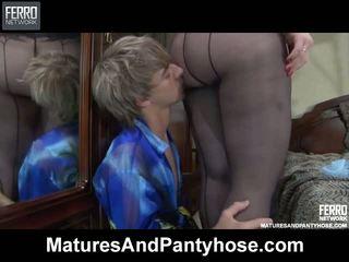 Flo Benjamin Pantyhose Mom On Video