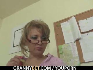 Ufficio signora enjoys cavalcare suo rod