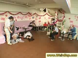 Hottie aziatisch maids gets humiliated
