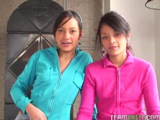 Tami fabiana 和 diana delgado 在 hawt 四人