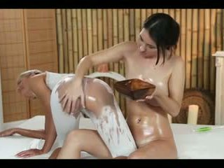 MASSAGE IN WET PANTS LEADS TO A DOUBLE HAPPY ENDING