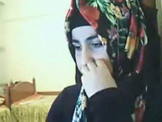 Hijab flicka visning röv på webkamera arab kön röret