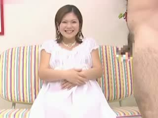 Asian pregnant lady gets naked and suc...