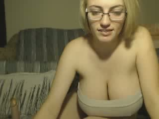 Camwh0res 2016 - Nerdy Chick Huge Tits Rides Dildo 3.