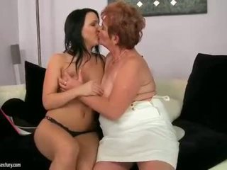 Grannies and Teens Kissing and Licking