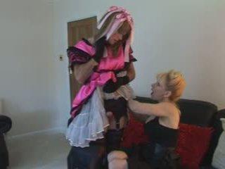 Išlepintas satinas tarnaitė sperma iki madame-c
