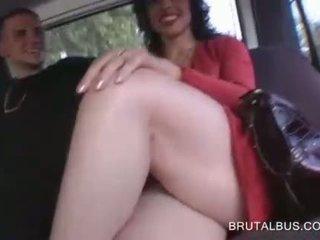 Sensual brunette talked into having sex for cash