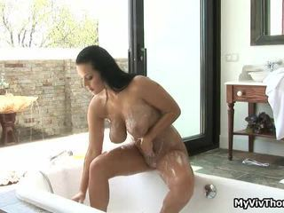 Horny Brunette Slut In The Shower,