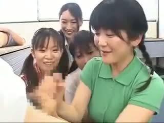 japanese, handjobs, cfnm