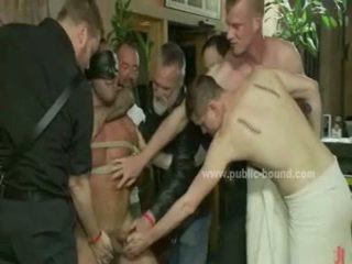 Powerful Gay Hunk Naked And Forced To Fuck In Extreme Public Sex