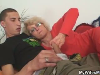 Wife finds him fucking her old mom and...