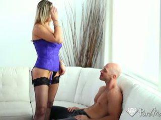 HD PureMature - MILF Abbey Brooks licks cock