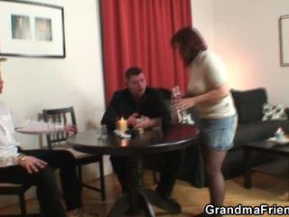 Poker Pleasuring Elder Swallowing Pair Oustanding Power Tools