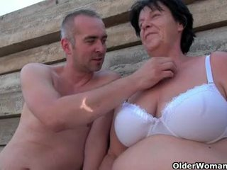 Ugly grandma with 1 inch nipples fucke...