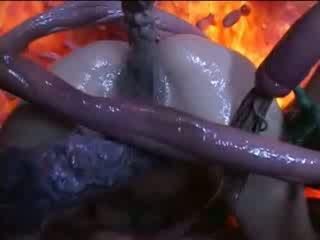 Lustful tentacles jāšanās karstās aziāti kuce pie doggie sekss pose