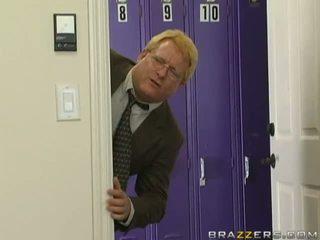 Stunning busty brunette teacher gettin...