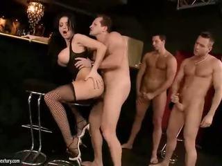 velká prsa, pornohvězdami, punčochy