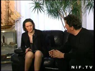 Peluda francesa mqmf en lencería anal follada
