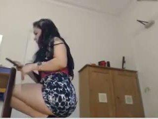 Horny Brunette Masturbating on Webcam - Hostelcams Com