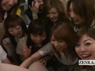Subtitled cfnm pov japans schoolmeisje groep penis spelen