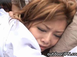 Akane hotaru sexy asiatic model receives grup inpulit