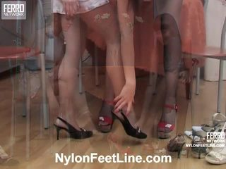 Alina And Catherine Pantyhose Feet Action
