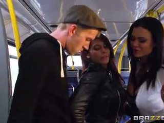 Bus banging for sexy girls Madison Ivy and Ja