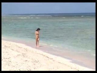 समुद्र तट, लड़कियां, एशियाई