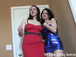 Caught you in the act of eating your own cum CEI