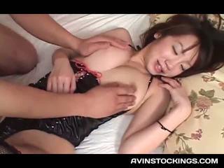 Sekss rotaļlieta addict jap tramp uz lateks cunt licked un fingered
