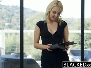 Blacked 漂亮 金发 hotwife aaliyah 爱 和 她的 黑色 lover