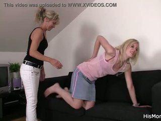 Mutter teaching teen lezzy tricks