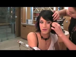 makeup, crossdresser, gezicht