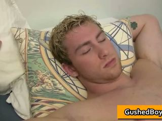 Blonde Youngster Man Has His Big Dick