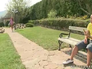 foot fetišs, pornstar, ārā