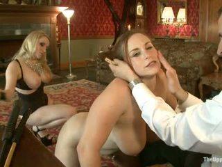 Guest pani aiden starr comes do the upper podłoga do grać z dom slaves
